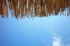 Canopy of straw Stock Photo
