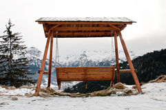 Canopy Swing at Water Reservoir Lake, Schmittenhöhe, Zell Am See Royalty Free Stock Image