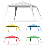 Canopy Tent. On a white background. Set Gazebo Icon Illustration Royalty Free Stock Photography