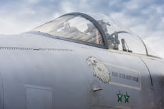 Canopy of US Air Force F/A-15 Strike Eagle Stock Photos