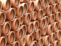 Canos de barro Fotografia de Stock