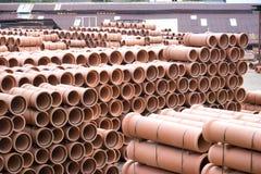 Canos de barro na fábrica Imagem de Stock