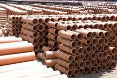 Canos de barro na fábrica Imagem de Stock Royalty Free