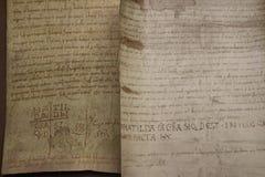 Canossa Italien, Matilde av det Canossa museet, touristic ställe i Reggio Emilia arkivbilder