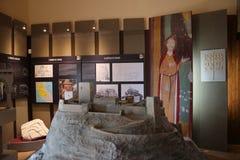Canossa Italien, Matilde av det Canossa museet, touristic ställe i Reggio Emilia royaltyfri foto