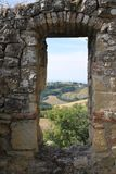 Canossa Italien, Matilde av det Canossa museet, touristic ställe i Reggio Emilia royaltyfria foton