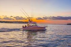 Canot automobile au coucher du soleil à Key West Photos stock