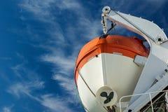 Canot de sauvetage d'un grand ferry-boat transportant des passagers images stock