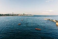 Canotage à Barcelone Images libres de droits