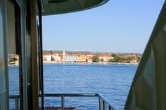 Canotage à Brioni, Croatie Photos stock