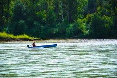 Canotage de rivière photos libres de droits