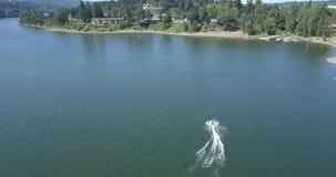 Canotage et Jet Skiing de rivière de Willamette clips vidéos