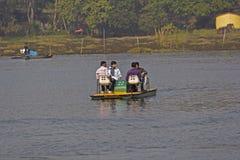 Canotage indien Images libres de droits