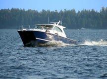 Canotage sur le lac Image stock