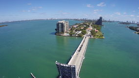 Canotaje aéreo en Miami almacen de metraje de vídeo