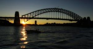 Canotaje del puerto de Sydney Imágenes de archivo libres de regalías