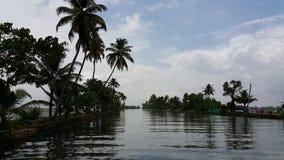 Canotaje en Azhapuzha, Kerala, la India Fotos de archivo