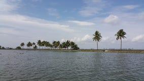 Canotaje en Azhapuzha, Kerala, la India Imagenes de archivo
