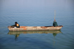 Canotaje en el lago superior Foto de archivo