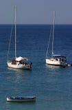 Canotaje en el mediterráneo Imagen de archivo libre de regalías