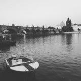 Canotaje en Praga Fotos de archivo libres de regalías