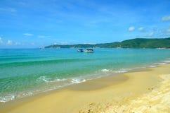 Canotaje, isla de Hainan China, Hainan; Sanya, bahía de Yalong Foto de archivo libre de regalías