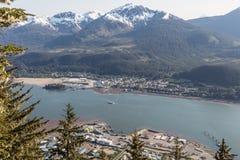 Canotaje más allá de Juneau Imagenes de archivo