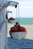 2 canots de sauvetage Photo libre de droits