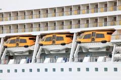 Canots de sauvetage de bateau de croisière Image libre de droits