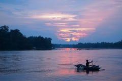 Canottaggio, da pesca Fotografia Stock Libera da Diritti