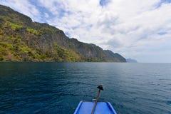 Canottaggio dell'isola di Busuanga Immagine Stock