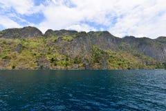 Canottaggio dell'isola di Coron Fotografia Stock