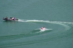 Canottaggio nel lago Georgetown il Texas Fotografie Stock Libere da Diritti