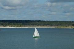 Canottaggio nel lago Georgetown il Texas Fotografia Stock Libera da Diritti