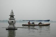 Canottaggio sul lago ad ovest Fotografie Stock