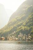 Canottaggio sul lago Hallstatt Fotografia Stock Libera da Diritti