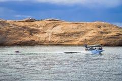 Canottaggio sul lago Powell Immagine Stock