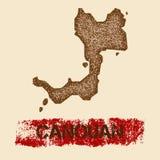 Canouan beunruhigte Karte Stockfotografie