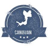 Canouan-Logozeichen Lizenzfreies Stockfoto