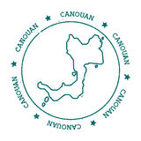 Canouan vectorkaart Royalty-vrije Stock Fotografie
