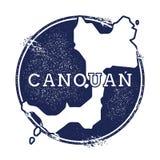 Canouan vectorkaart Royalty-vrije Stock Afbeeldingen