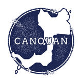 Canouan vektoröversikt Royaltyfria Bilder