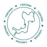 Canouan-Vektorkarte Lizenzfreie Stockfotografie
