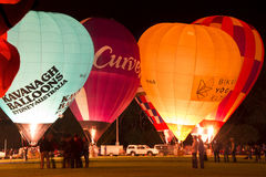 Canowindra Balloon Glow. Balloon Glow event held as part of the Canowindra Balloon Challenge Stock Image