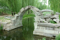 Canqiao (ruined Bridge) In Beijing Yuanmingyuan Royalty Free Stock Photos