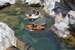 Canrejal河在Pico东方狐鲣国家公园洪都拉斯一个普遍的水上运动地点 库存照片