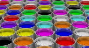 cans öppnar målarfärg vektor illustrationer