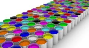 cans öppnar målarfärg stock illustrationer