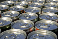 Cans Royalty Free Stock Photography