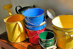 Cans. Watering cans Royalty Free Stock Photos